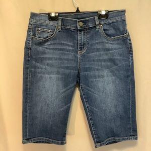 New York & Company denim Bermuda shorts